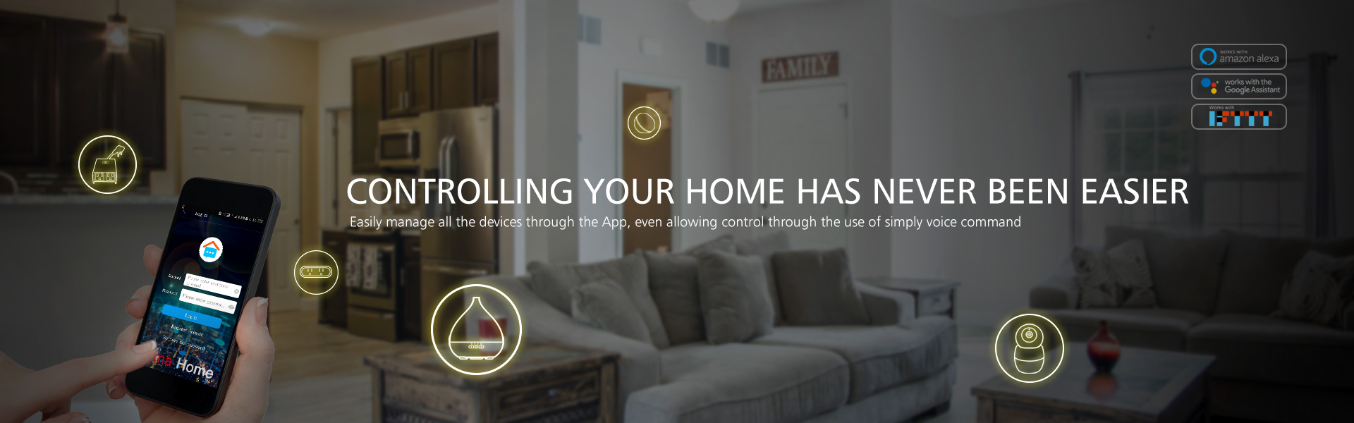 CONTROLLING YOUR HOME HAS NEVER BEEN EASIER