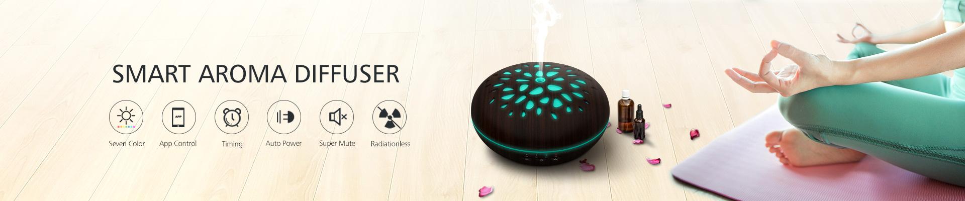 Smart ultrasonic aroma diffuser